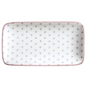 Sophie Allport Patterned Rectangular Plate Hearts