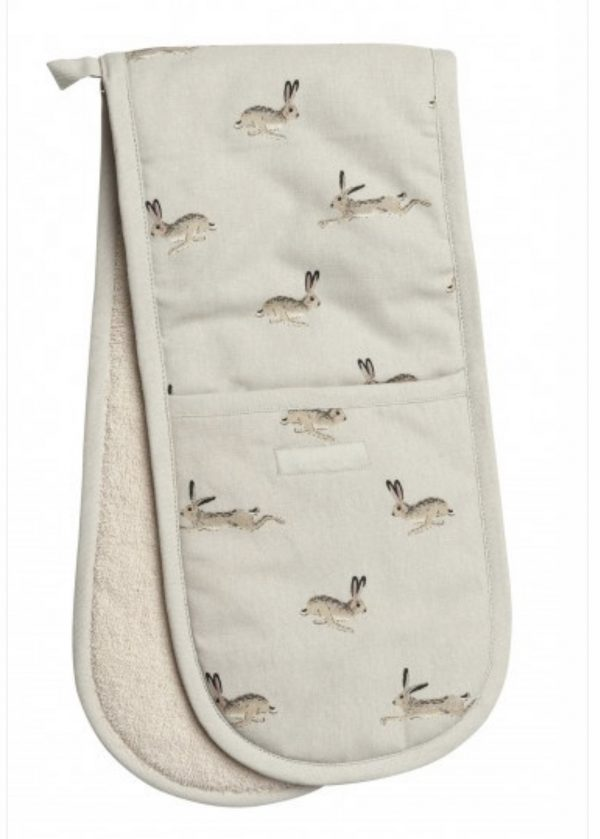 Sophie Allport Double Oven Glove Hare